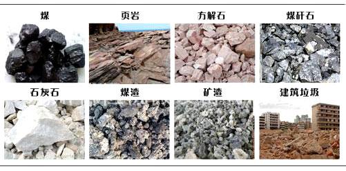煤矸石粉碎机适用物料